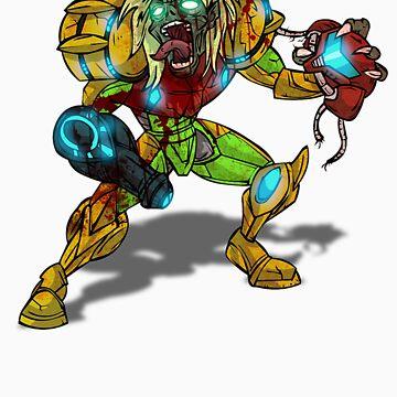 Zombie Samus (Metroid) by AvenueRec