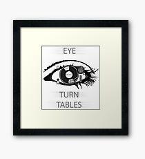 Eye TurnTables Framed Print