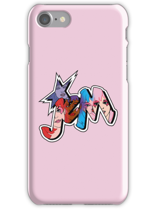 Jem and The Holograms - Logo #1 - Pink - Tablet & Phone Cases by DGArt