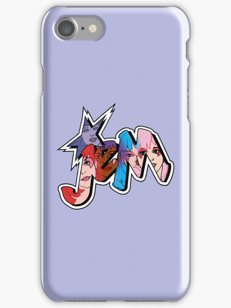 Jem and The Holograms - Logo #1 - Purple - Tablet & Phone Cases by DGArt