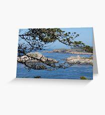 Pebble Beach Landscape Greeting Card