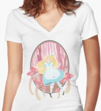 Alice's Wonders Fitted V-Neck T-Shirt