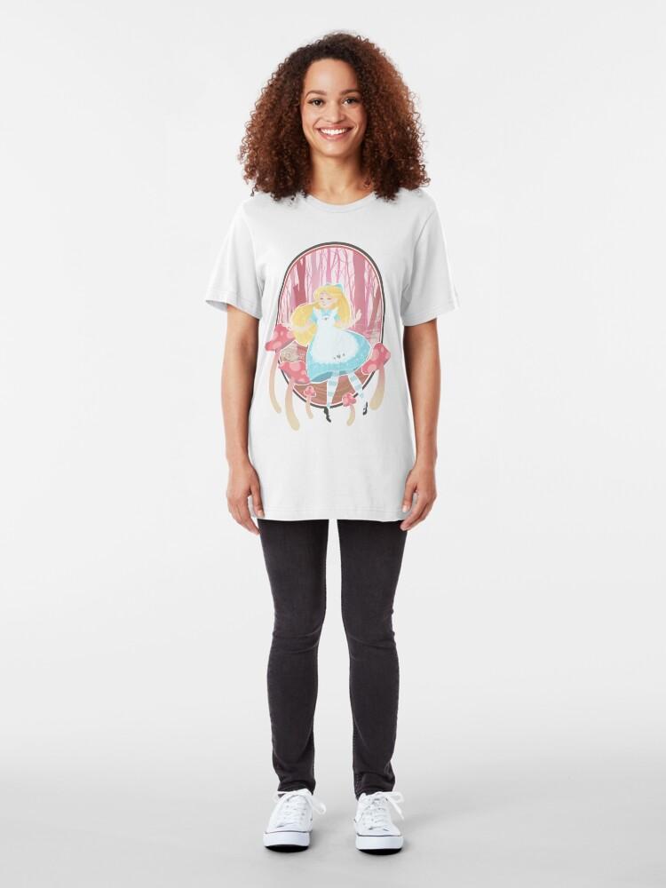 Alternate view of Alice's Wonders Slim Fit T-Shirt
