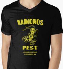 Distressed Vamonos Pest Men's V-Neck T-Shirt