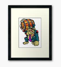 Zombie Donkey Kong Framed Print
