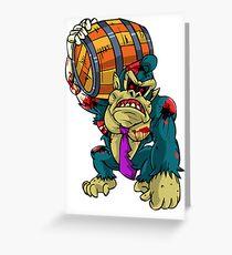 Zombie Donkey Kong Greeting Card