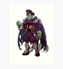 Zombie M Bison (Street Fighter) Art Print