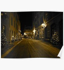 Winterland/ snowy street at midnight...CANADIAN CULTURE CAPTURED Poster