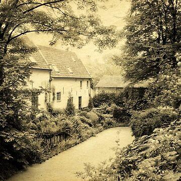 Brugge. Photo in vintage style. by skyfish