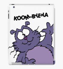 Eek the Cat - Koom-Bye-Ya - White Font iPad Case/Skin