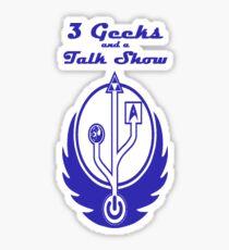 3 Geeks and a Talk Show Merchandise Sticker