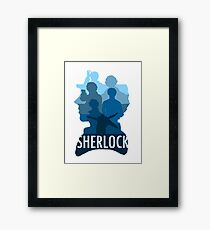 Sherlock ~  A Study to the Fall Framed Print