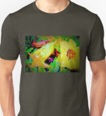 Tropical view of Allamanda flowers Unisex T-Shirt