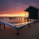 Shelly Beach Red Dawn by Nick Skinner