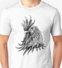 Ornately Decorated Rooster Unisex T-Shirt