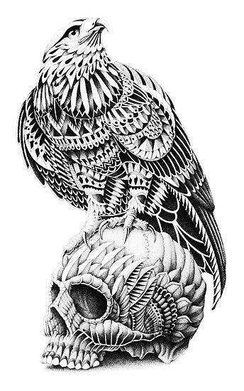 Red-Tail Skull by BioWorkZ