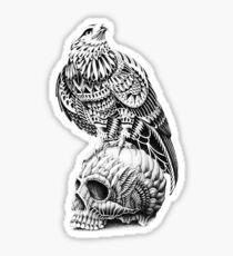 Red-Tail Skull Sticker