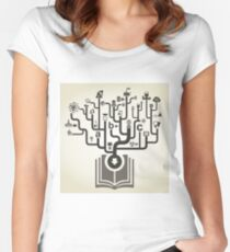 Industry the book Women's Fitted Scoop T-Shirt