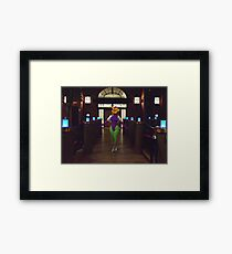 Fara blue lit Bridge Framed Print