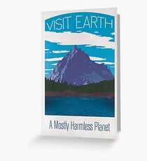 Earth Travel Poster Greeting Card