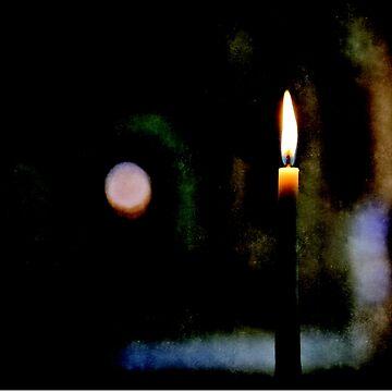 Firing candle in a dark church by skyfish