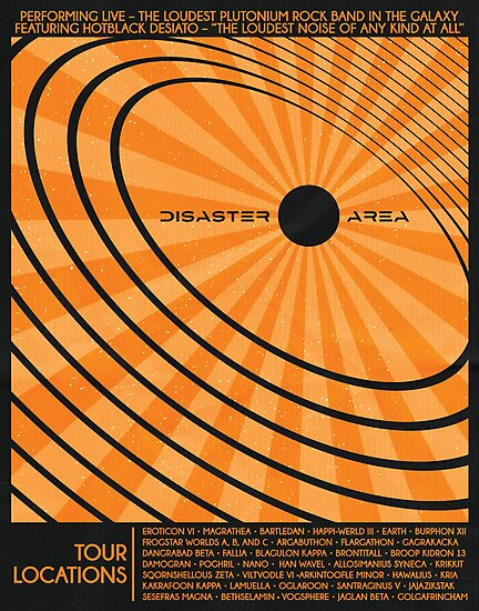 Disaster Area Band Poster by Andy Knol