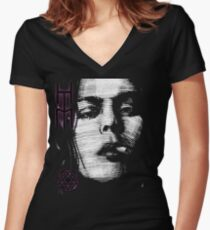 Him Valo Razorblade Tee OPTIMIZED FOR BLACK SHIRTS Women's Fitted V-Neck T-Shirt