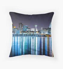 Liverpool Skyline At Night Throw Pillow
