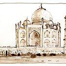 Taj Mahal, India by LordOtter