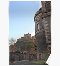 St Cuthbert's Church and Edinburgh Castle Poster