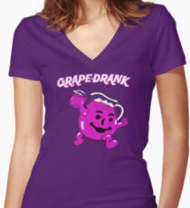 Grape Drank! Women's Fitted V-Neck T-Shirt
