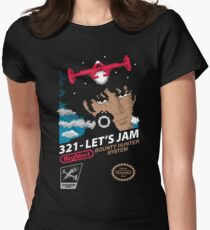 321 - Let's Jam Womens Fitted T-Shirt