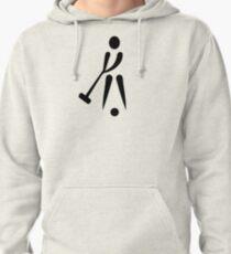 Croquet player symbol Pullover Hoodie