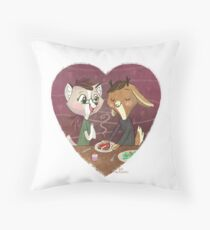 Dinner For Two Throw Pillow