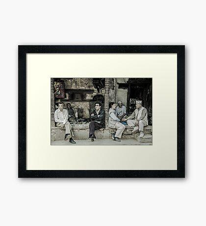The Old Boys Club Framed Print