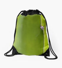 Fresh green Cactus Macro - Yellow / Green Drawstring Bag