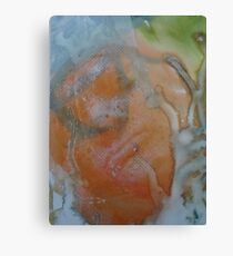 Expanding Foam portrait screen-print zoomed in (2) Canvas Print