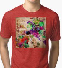 Abstract Mixed Media Tri-blend T-Shirt
