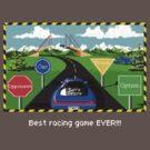 Stunts Racing Pixel Style - Retro DOS game fan shirt by hangman3d