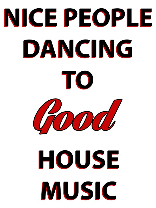 nice people dancing to good house music stickers by pepe