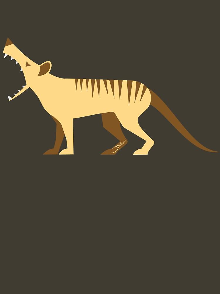EXTINCT: Thylacine (Tasmanian Tiger) by bridge8