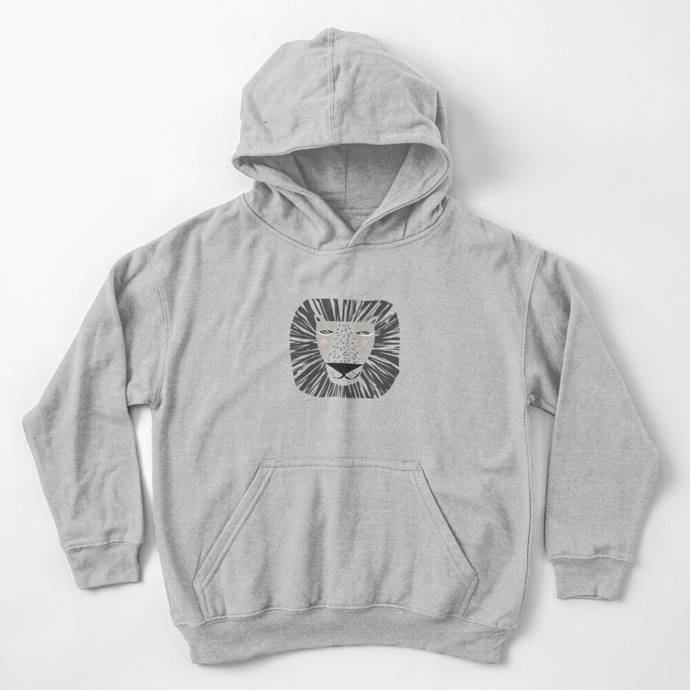 Friendly Lion Kids Pullover Hoodie