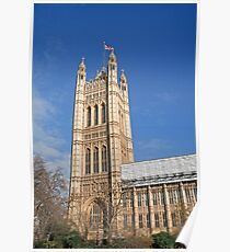Blue sky over Houses of Parliament Poster