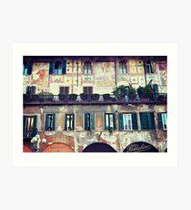 Piazza delle Erbe, Verona Art Print