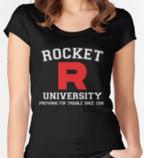 Team Rocket University Women's Fitted Scoop T-Shirt