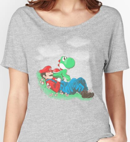 A plumber and his friend Women's Relaxed Fit T-Shirt