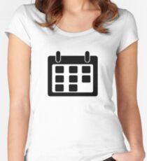Calendar Symbol Women's Fitted Scoop T-Shirt