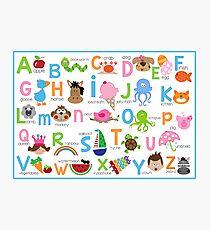 Alphabet Poster Photographic Print