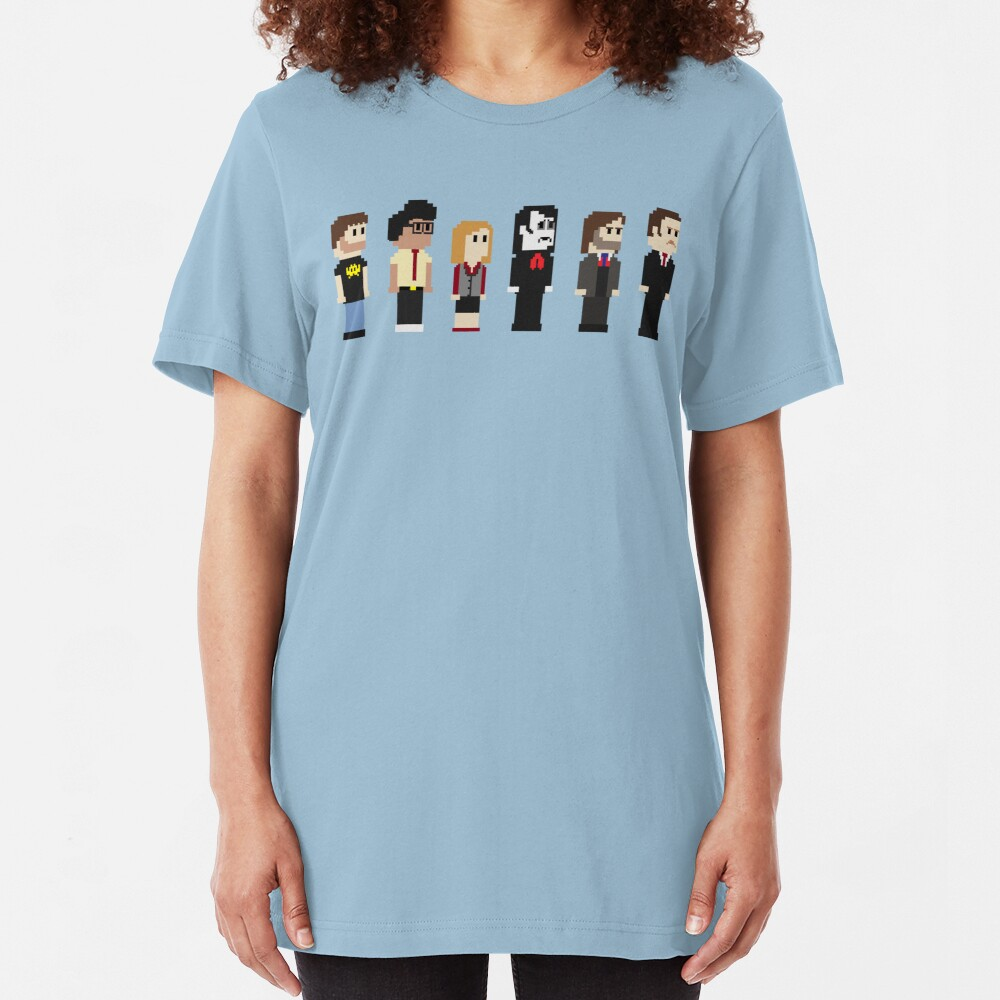 8-Bit IT Crowd Slim Fit T-Shirt