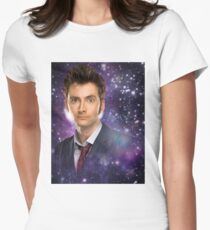The 10th Doctor in Space Women's Fitted T-Shirt